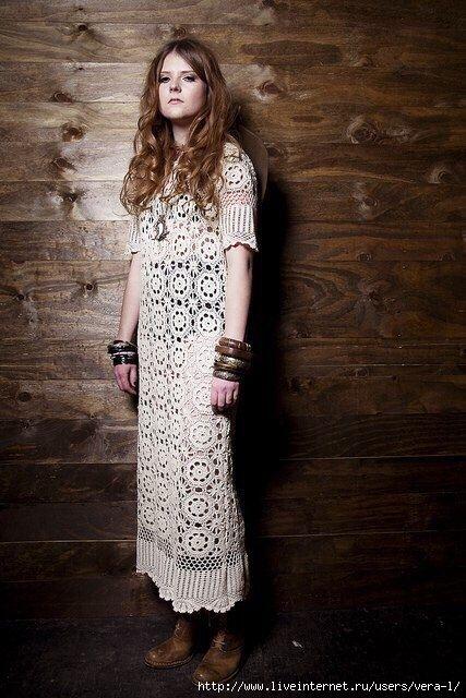 Платье ажурное в стиле бохо