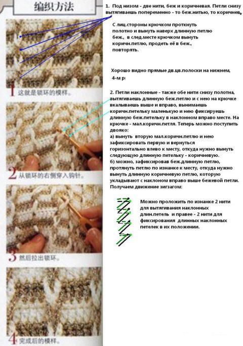Схемы вязания теплого жакета крючком