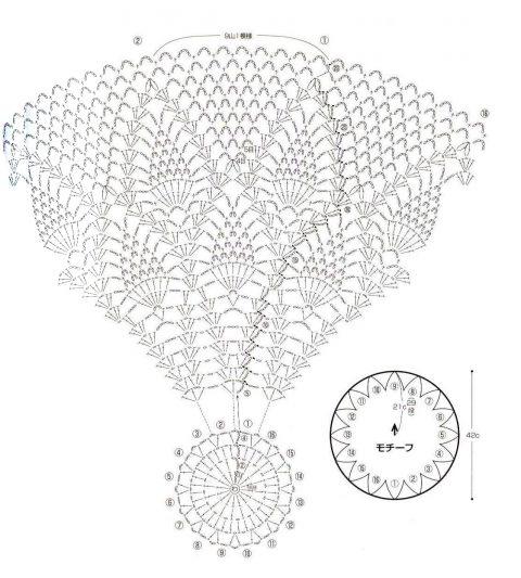 схема вязания ажурной кофты