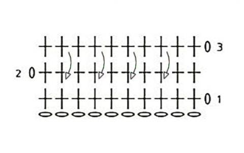 схема вязания трикотажной сумки