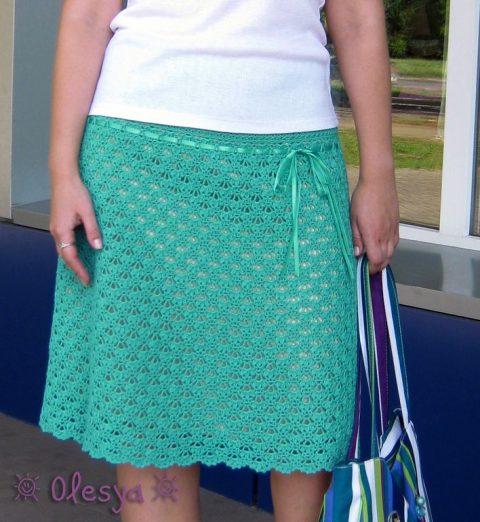 ажурная летняя юбка крючком для женщин