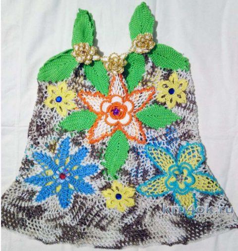 Детское платье крючком. Работа Нины Яснило вязание и схемы вязания