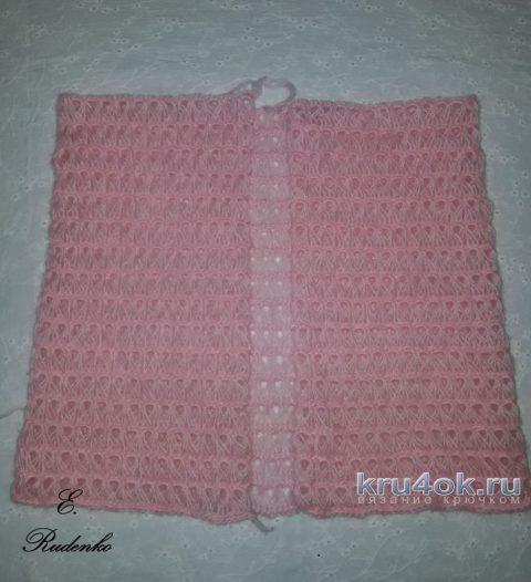 Кардиган Розовый шарм в технике Брумстик вязание и схемы вязания