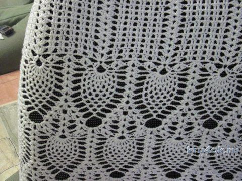 Летняя кофточка связана узором ананасы вязание и схемы вязания