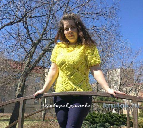Солнечная кофточка от мастерицы Эльвиры Вязаловой вязание и схемы вязания