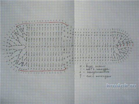 Тапочки крючком. Работа Людмилы Петровой вязание и схемы вязания