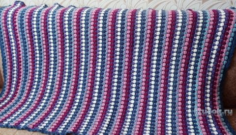 Вязаный крючком плед. Работа Елены Санниковой вязание и схемы вязания