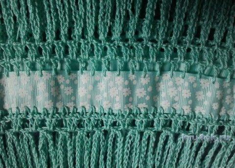 Юбка крючком, комбинированная тесьмой. Работа Наталии Левиной вязание и схемы вязания
