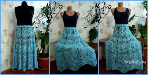 Красивая летняя юбка для женщин крючком