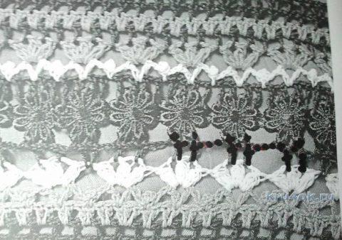 Юбка миди, связанная филейным узором вязание и схемы вязания