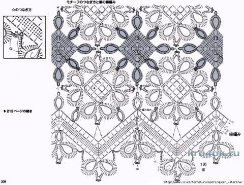 Женская юбка крючком. Работа Виктории вязание и схемы вязания