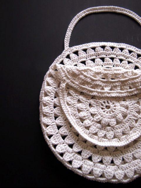 Круглая сумка, идеи из интернет