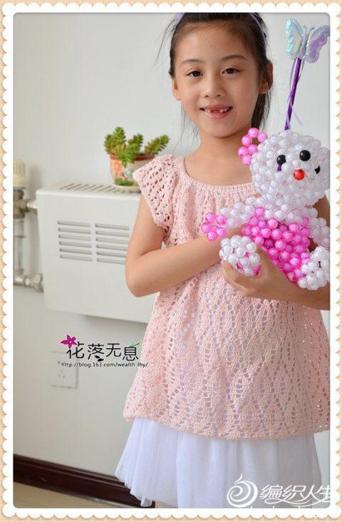 Топ для девочки крючком из японского журнала