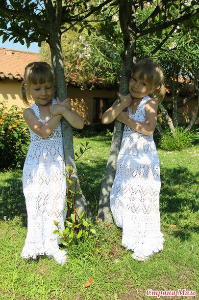 Сарафаны для девочек крючком от Solele