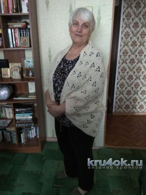 Кардиган - кокон крючком. Работа Людмилы вязание и схемы вязания