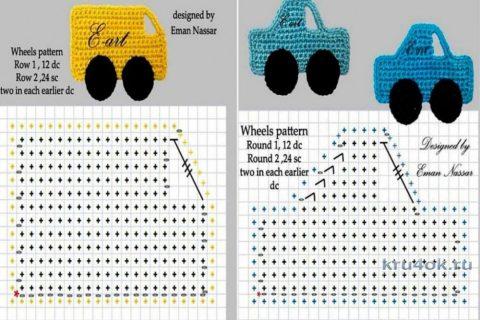 Схемы вязания аппликаций крючком: