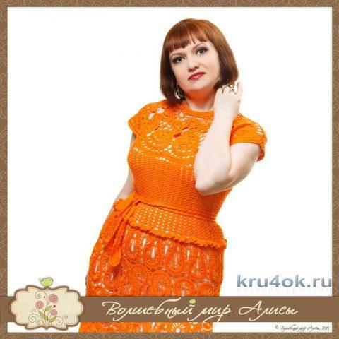 Платье брюгге Метель. Работа Alise Crochet