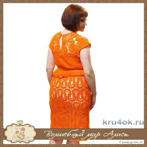 Платье брюгге Метель. Работа Alise Crochet вязание и схемы вязания