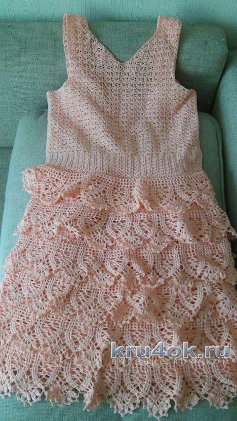 Платье для девочки крючком. Работа Иришкас7 вязание и схемы вязания