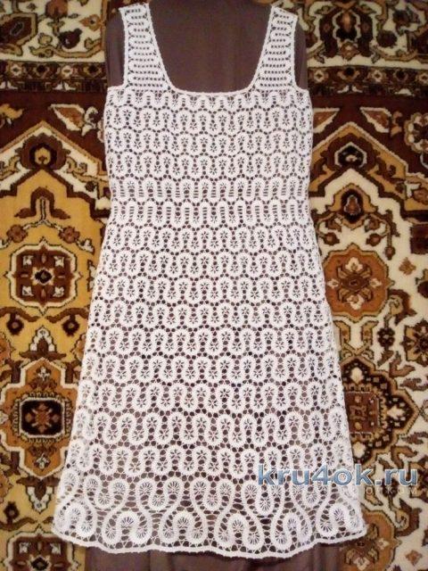 Платье в технике брюггское кружево. Работа Елены Шляковой