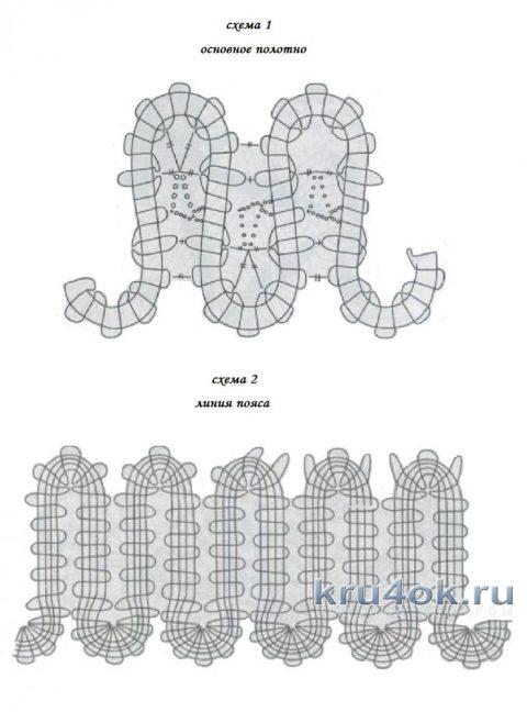 Платье в технике брюггское кружево. Работа Елены Шляковой вязание и схемы вязания