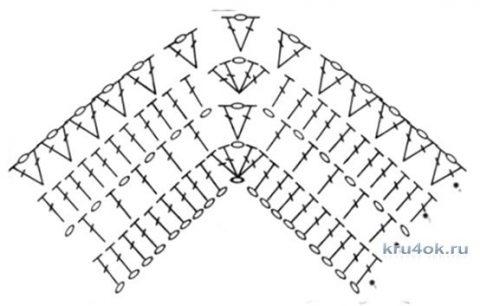 Пончо летнее крючком. Работа Мухиной Ольги вязание и схемы вязания