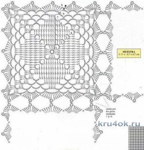 Салфетка - дорожка крючком. Работа Надежды Борисовой вязание и схемы вязания
