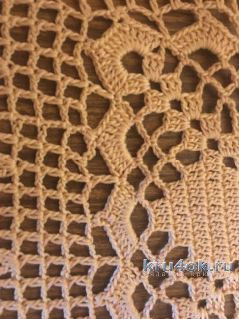 Салфетка - скатерть крючком. Работа Надежды Борисовой вязание и схемы вязания