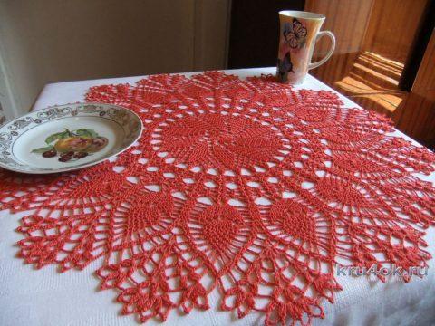 Салфетка крючком. Работа Маргариты вязание и схемы вязания