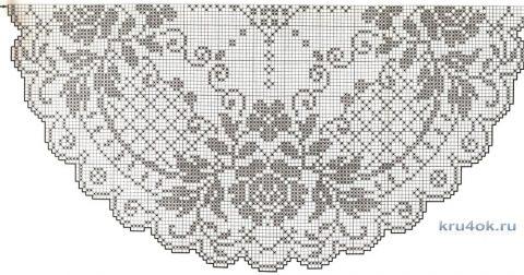Скатерть (салфетка) крючком в филейной технике Розы вязание и схемы вязания