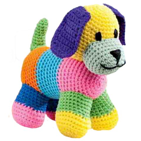 Разноцветная собака крючком