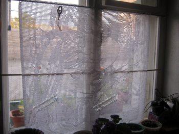 Как вязать шторы крючком по схемами