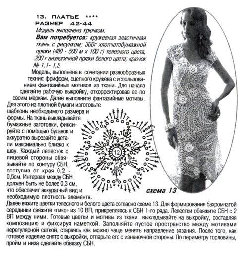 Описание и схемы платья фриформ