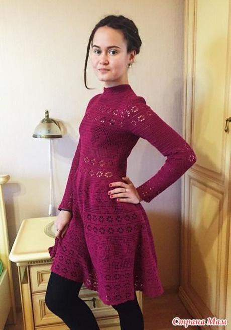 Платье филейное кружево, автор Людмила Устюжанина