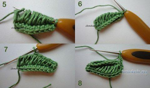 Ажурная косынка крючком. Работа Светланы Чайка вязание и схемы вязания