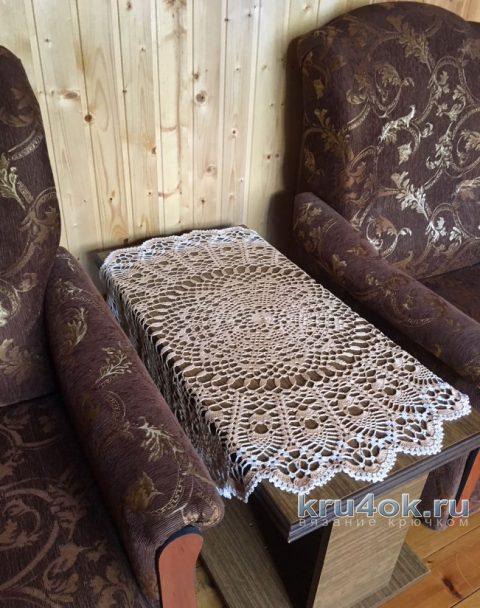 Большая салфетка крючком. Работа Надежды Борисовой вязание и схемы вязания