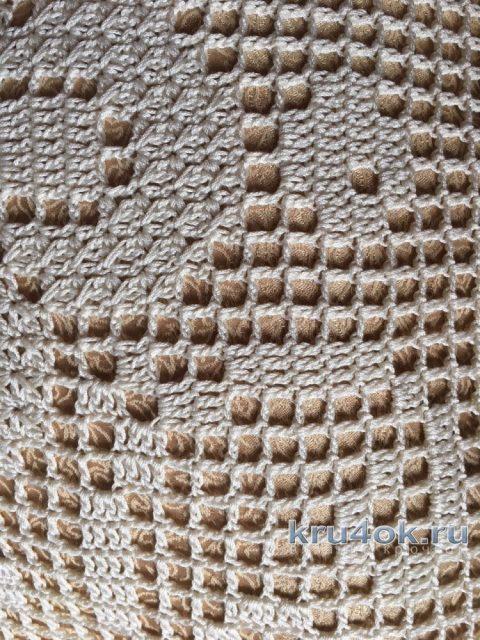 Чехол (наволочка на подушку). Работа Надежды Борисовой вязание и схемы вязания