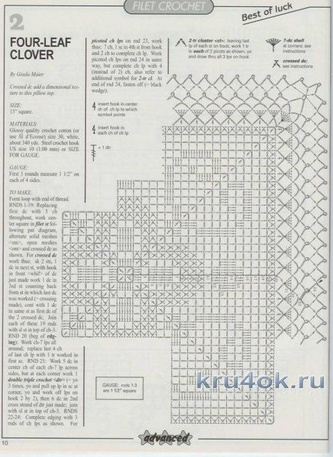 схемы вязания подушки