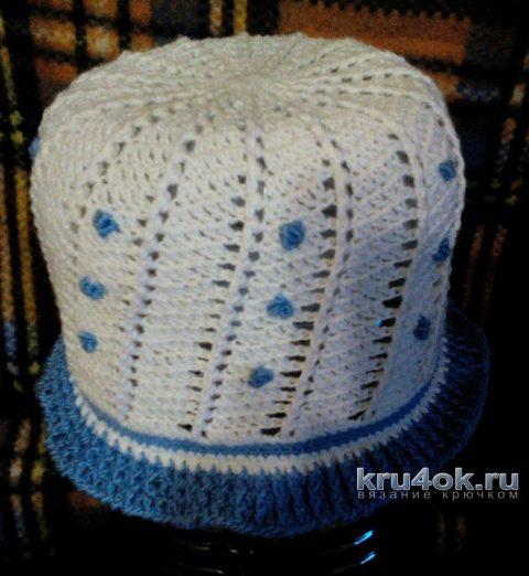 Летняя шляпка крючком для девочки. Работа Светланы Норман вязание и схемы вязания