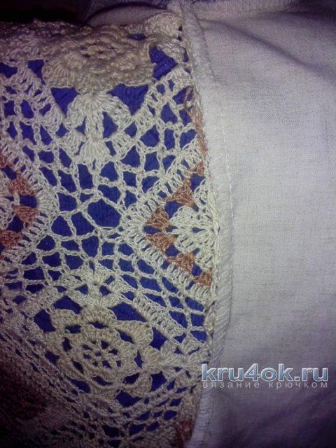 Нарядная туника из мотивов и льна. Работа Аллы вязание и схемы вязания