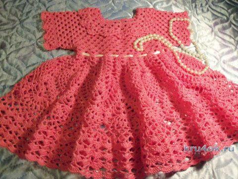 Платье для девочки 1 года. Работа Акамарал вязание и схемы вязания