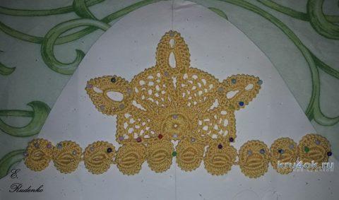 Платье Солнышко связано крючком. Работа Евгении Руденко вязание и схемы вязания