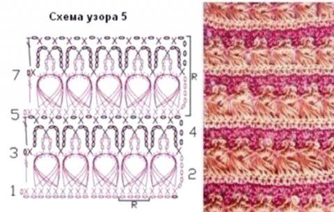 Схемы вязания узоров брумстик