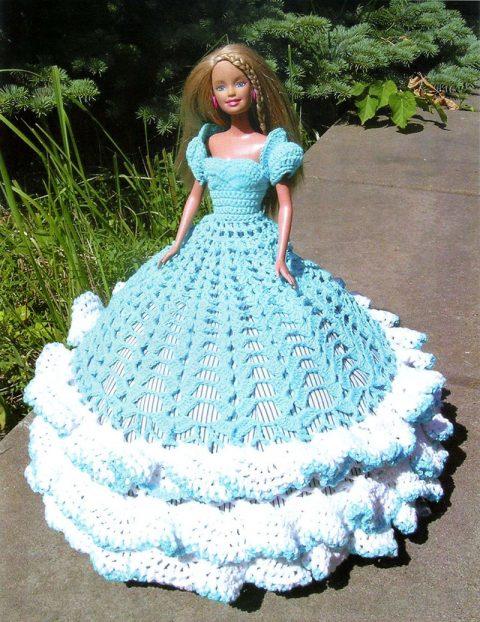 Красивое платье для куклы Барби