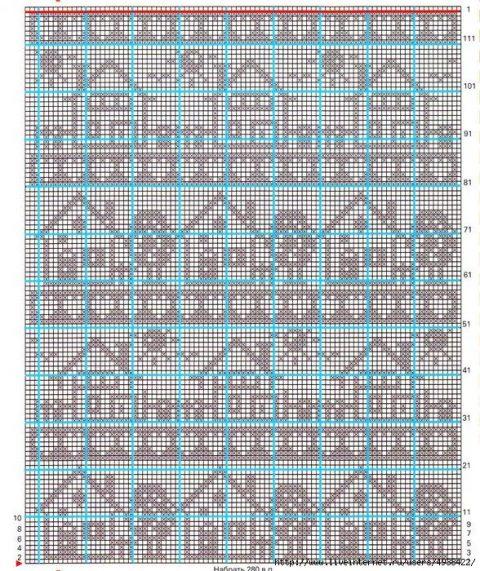 Схема домика для штор: