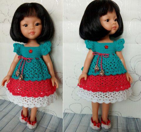 Платье «Милашка»для кукол типа Паола Рейна