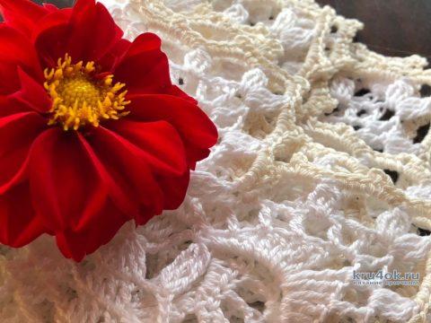 Ажурная круглая салфетка. Работа Надежды Борисовой вязание и схемы вязания