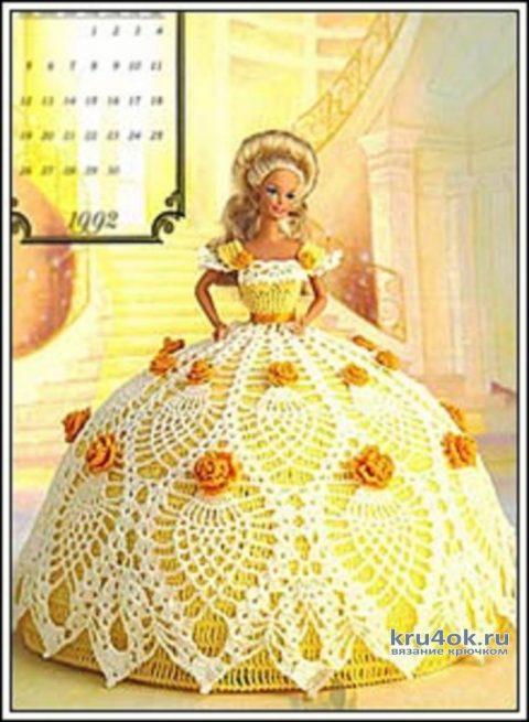 Платье для барби. Работа Alise Crochet вязание и схемы вязания