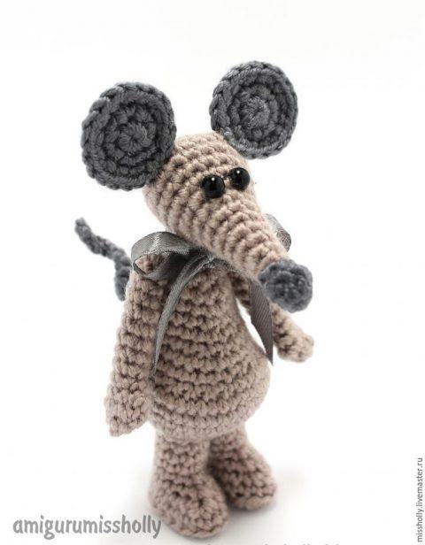 Мастер - класс для начинающих амигуруми - мышка