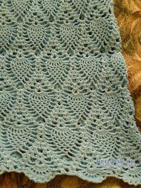 Платье для девочки Ананасы. Работа Кристины Филиной вязание и схемы вязания
